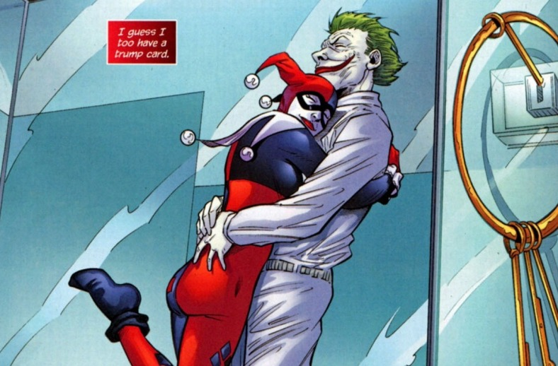 Joker and Harley Hug
